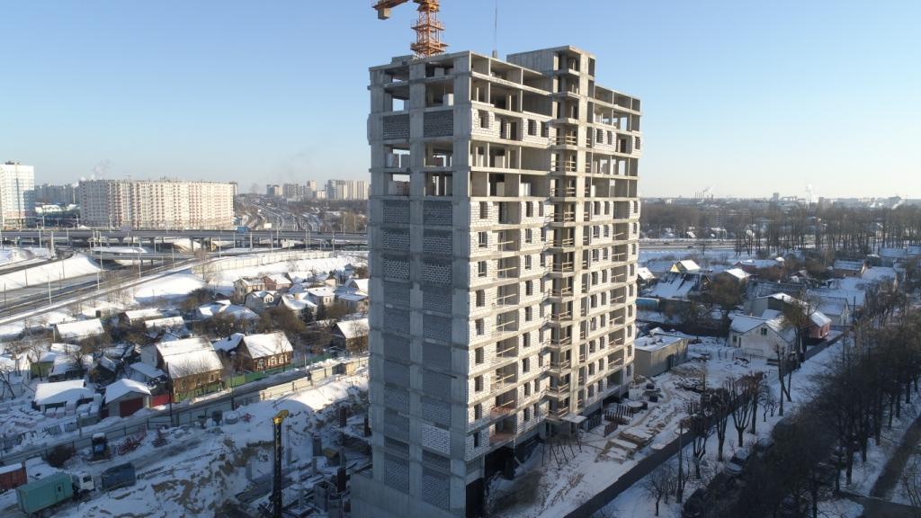 Фотоотчет 22.02.2021 о строительстве ЖК «Smart» в г. Минске